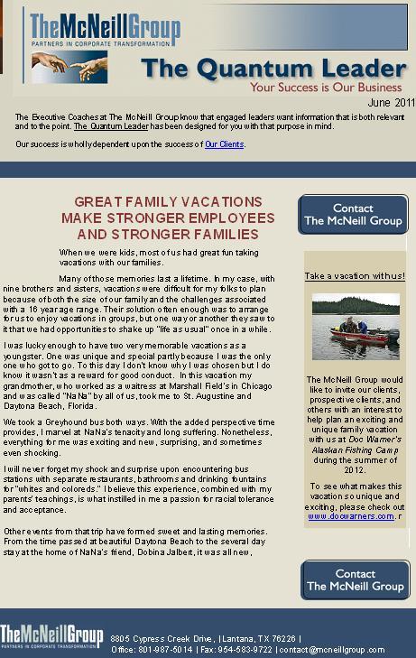 Newsletter & Blog Articles Provided, Plus Free Newsletter Design