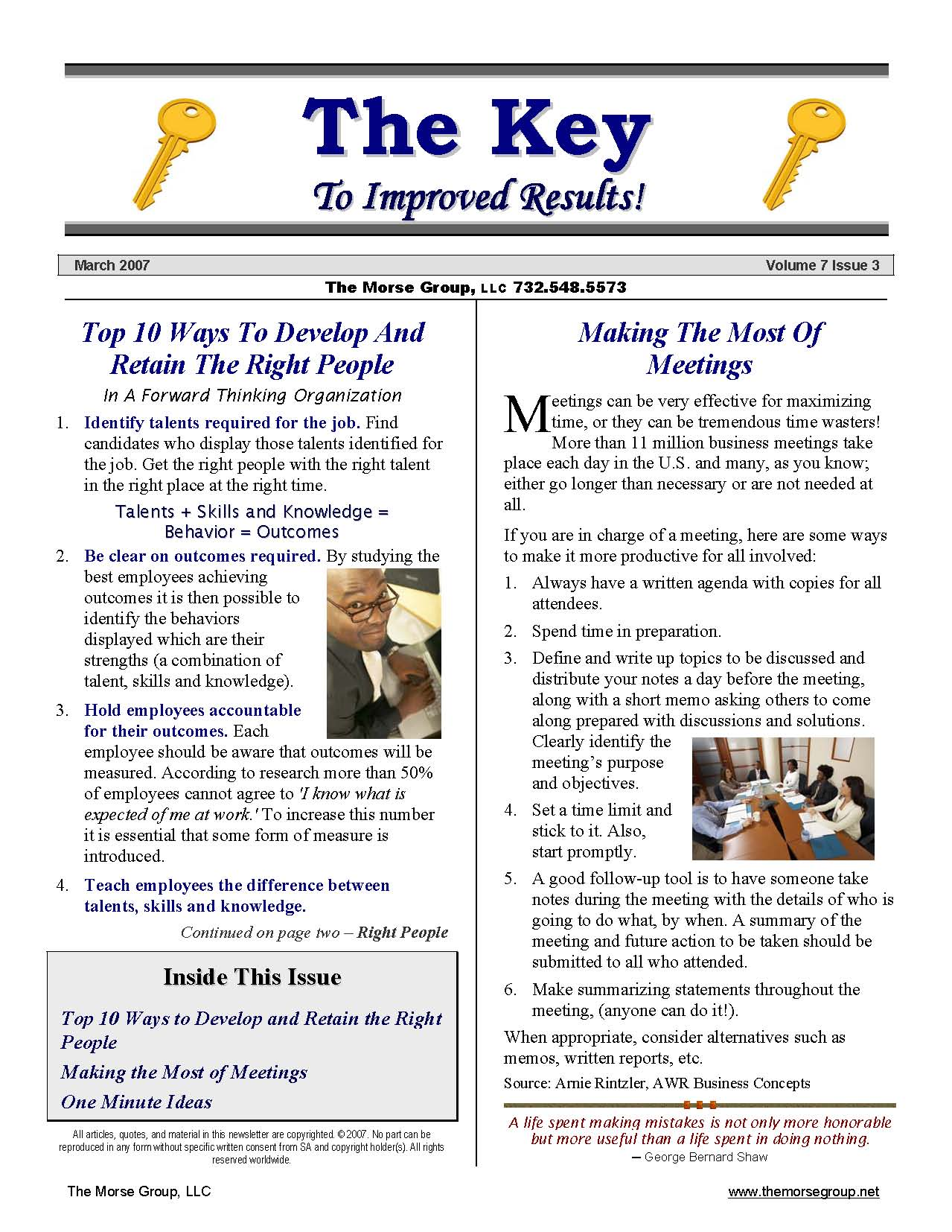 Sample Newsletter  Example Of Newsletter Templates